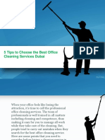 5 Tips to Choose the Best Office Cleaning Services Dubai