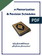 Daily Quran Memorization Schedule