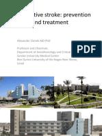 Perioperative stroke. Prevention and treatment (A. Zlotnik)