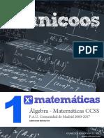 Matemáticas A - PAU1 - ÁLGEBRA