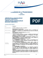 Commission de la transparence HAS 2015
