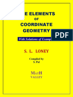 S L Loney s  Coordinate Geometry with Solutions of Examples Math Valley ( PDFDrive.com )