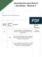SESI ES - SATISFAÇÃO DO CLIENTE - Relatório de Desempenho - Atividades - Módulo 4