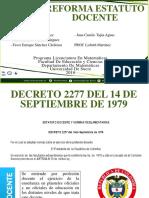 ESTATUTO DOCENTE 2277 Y 1278