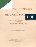 Rodriguez de Hita - Canciones Para 2 Oboes y Fagot - transc. Miguel Querol - CSIC - 1973