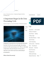 6 Important Stages in the Data Processing Cycle