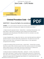 Criminal Procedure Code - CrPC Notes