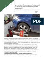 Geometria si unghiurile rotilor influenteaza siguranta automobilului