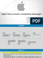 5 Apple (in 2013) Sustaining a Competitive Advantage