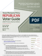 TxMJPolicy Voter Guide | 2020 Primary Edition - Republican Candidates