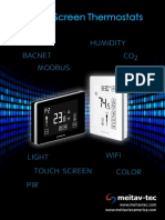 MTS Touch Screen Thermostat - leaflet