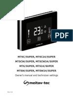MTS-SUPER MTSC-SUPER - operating manual