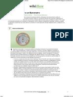 Come Configurare un Barometro- 12 Passaggi (Illustrato)
