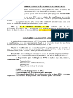 CONCESSÃO DE REGISTRO - CAC Orientações Para Restituição de Taxa de Fiscalização de Produtos Controlados