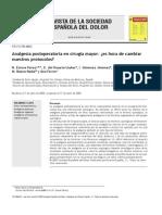 Analgesia Posoperatoria en Cirugia Mayor