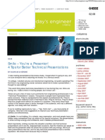 4 Tips for Better Technical Presentations