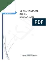 SEBELAS KEUTAMAAN BULAN ROMADHON 2.pdf