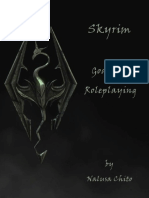 Skyrim Goals for Roleplaying