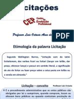 CEP - Licitações e Contratos - Professor Luis Octavio