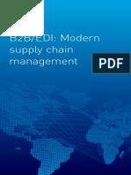 B2B EDI Modern supply chain management and EDI systems