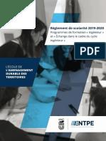 Règlement de scolarité 2019-2020
