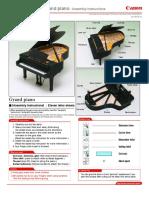 Papercraft piano canon p1