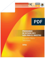 Programa de estudio 2011 Artes Musica Solamente pRIMERO