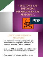 Efecto de las sustancias peligrosas en las personas