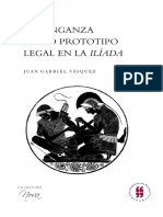 La venganza como prototipo legal en la iliada Juan gabriel vasquez