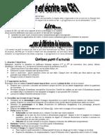 Doc animation lire ecrire CE1