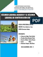 RÉGIMEN AGRARIO Y DE CONSTRUCCION CIVIL- FINAL