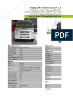 Quotation for Dongfeng C37 mini van