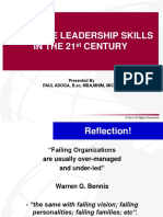 EFFECTIVE LEADERSHIP SKILLS IN THE 21ST CENTURY