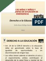 Derecho a la Educación en situación de emergencia