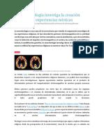 La Neuroteología Investiga La Creación Inducida de Experiencias Místicas