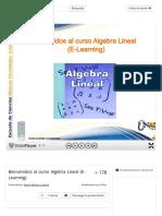 Bienvenidos al curso Algebra Lineal (E-Learning) - ppt descargar