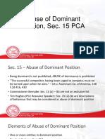 PCA Presentation - Abuse of Dominance 2.pptx