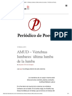 Amud (5) - Vértebras lumbares - Última lumba de la lumba