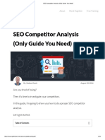 SEO Competitor Analysis (Only Guide You Need)