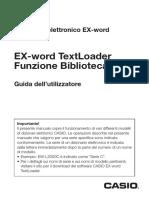 casio EX-word TextLoader manual