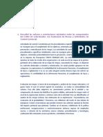 Describir los enlaces y correlaciones existentes entre los componentes del COSO III relacionados con Evaluación de Riesgo y Actividades de Control Gerencial