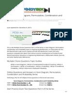 pinoybix.org-MCQs in Venn Diagram Permutation Combination and Probability Part II
