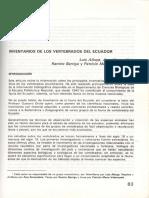 Inventarios Vertebrados Ecuador 1993