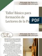 Taller Básico Lectores - Liturgia