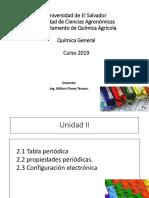 Unidad II Quimica General 2019 (Tabla Periódica)