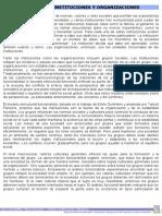 Función de instituciones y organizaciones