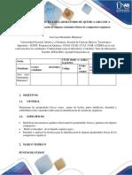 PREINFORME PRÁCTICA DE LABORATORIO DE QUÍMICA ORGÁNICA