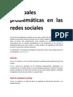 Principales problematicas en las redes sociales