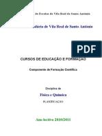 planificação FQ CEF 2º ano - 2010-2011