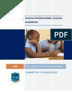 Acacia International School Handbook 2020